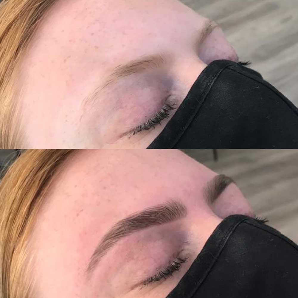 HD Brows - before & after