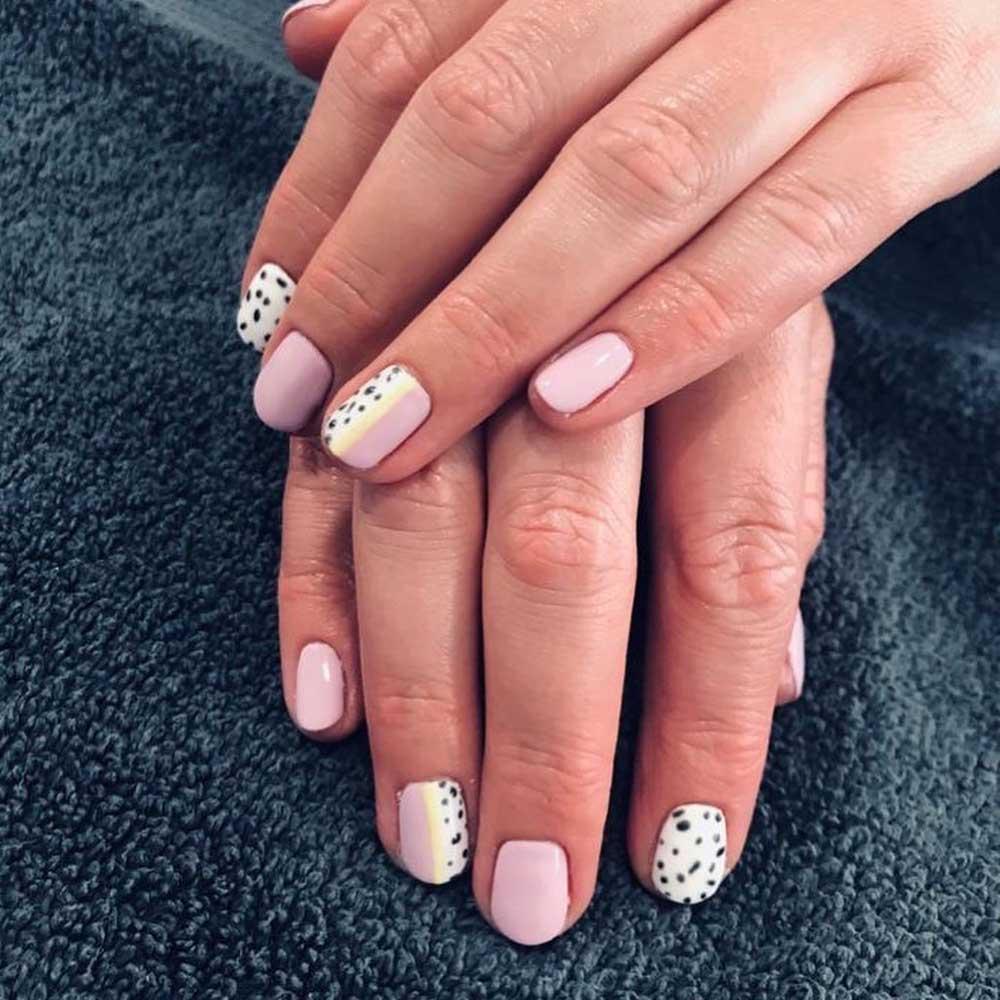 Shellac Manicure Dalmatian print abstract