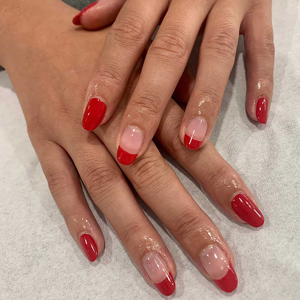 Shellac Manicure Red French